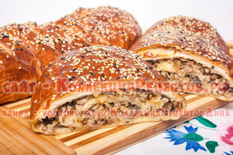 пироги с мясом в духовке рецепты