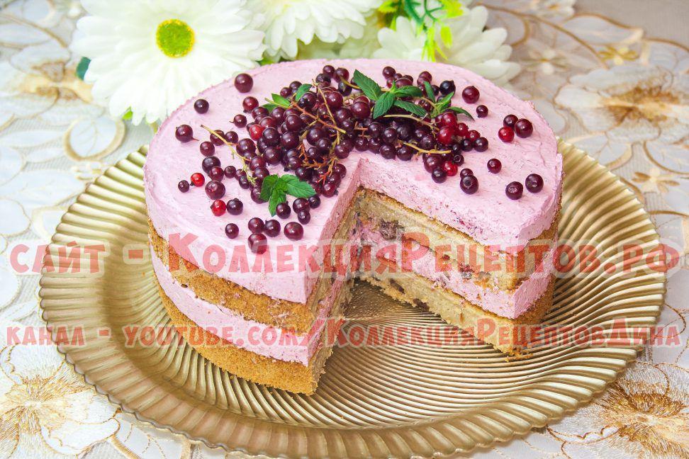 торт с смородиной