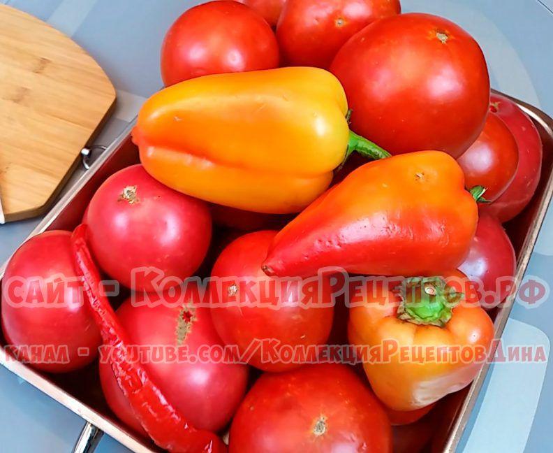 томат на зиму простой рецепт