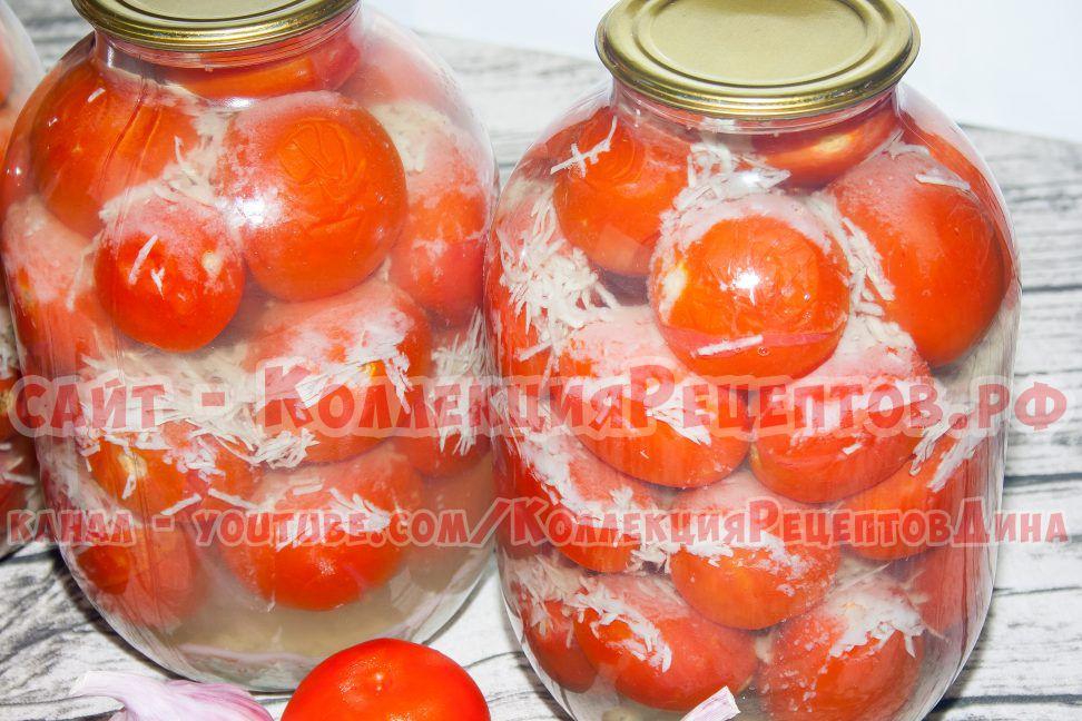 помидоры в снегу