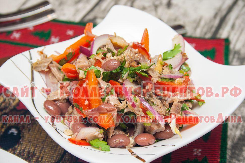 салат с мясом фото