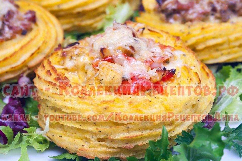 картофель курица сыр