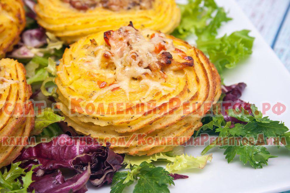 картофель с курицей в духовке рецепты