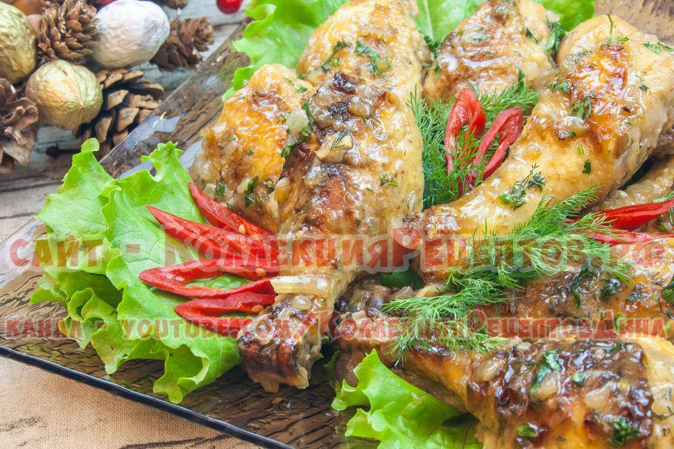 куриная голень в духовке рецепты с фото