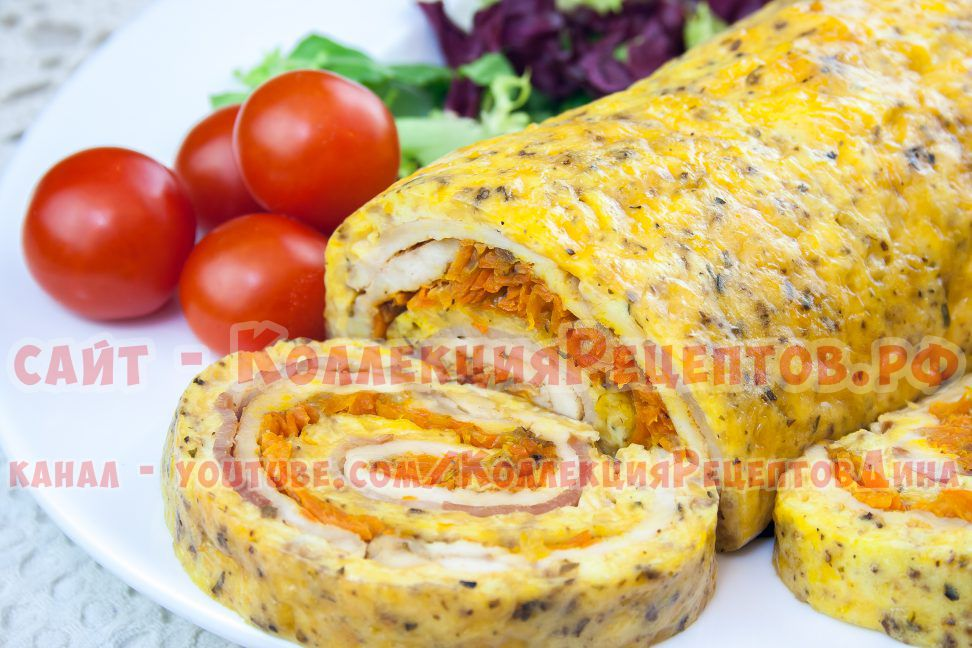 сырный рулет рецепт с фото
