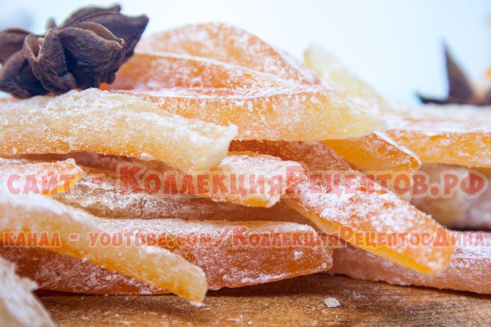 рецепт домашних цукатов из апельсиновых корок